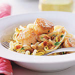 BROWN BUTTER LINGUINE AND SCALLOPS