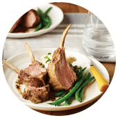 DOUBLE-CORIANDER LAMB RACKS