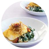ROASTED COD WITH BACON, POTATOES AND KALE