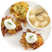 MINI POTATO AND ZUCCHINI LATKES