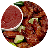 RASPBERRY CHIPOTLE WINGS