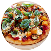 GRILLED VEGETABLE AND FETA PIZZA