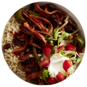 MEXICAN PORK AND RICE BOWL