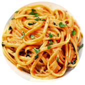 LINGUINE WITH BACON, SUN-DRIED TOMATOES AND CREAM