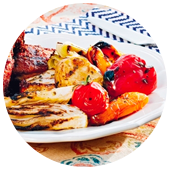 GRILLED VEGETABLES WITH SALSA VERDE